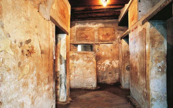 Corridoio antico bordello di Pompei